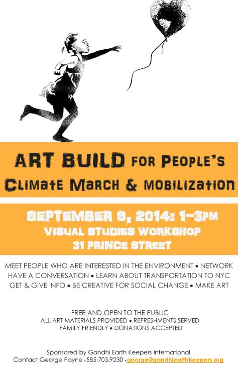 Art Build for People's Climate March & Mobilization